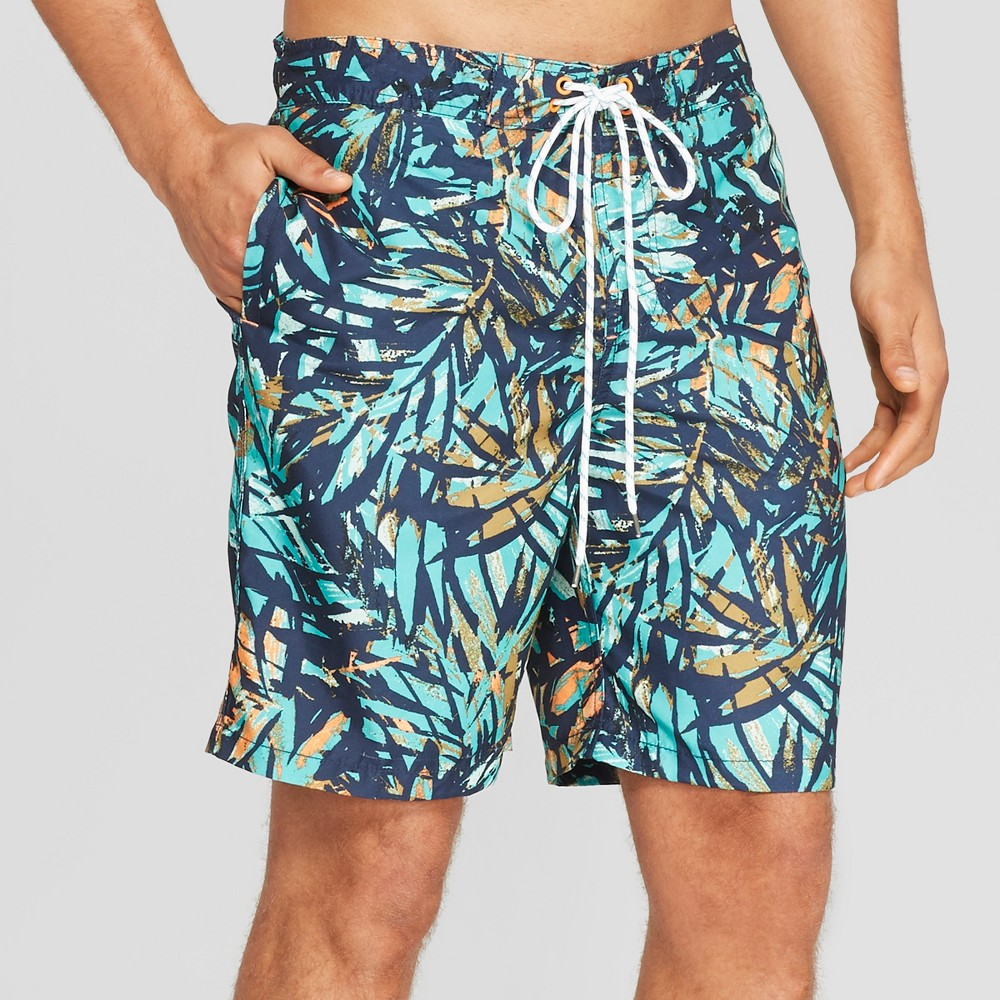 Men's 9 Swim Trunks - Goodfellow & Co Mint XS, Blue