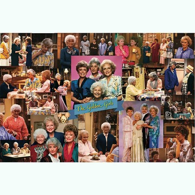 Toynk Golden Girls Collage '80s Puzzle For Adults And Kids | 1000 Piece Jigsaw Puzzle