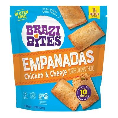 Brazi Bites Gluten Free Frozen Chicken & Cheese Empanadas - 10oz