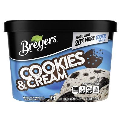 Cookies and Cream Ice Cream Frozen Dairy Dessert - 48oz - Breyers