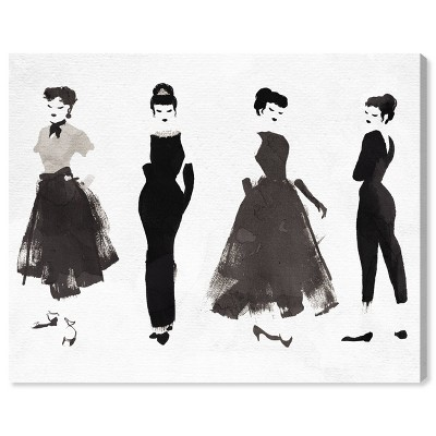 """13"""" x 16"""" Iconic Styles Fashion and Glam Unframed Canvas Wall Art in Black - Oliver Gal"""