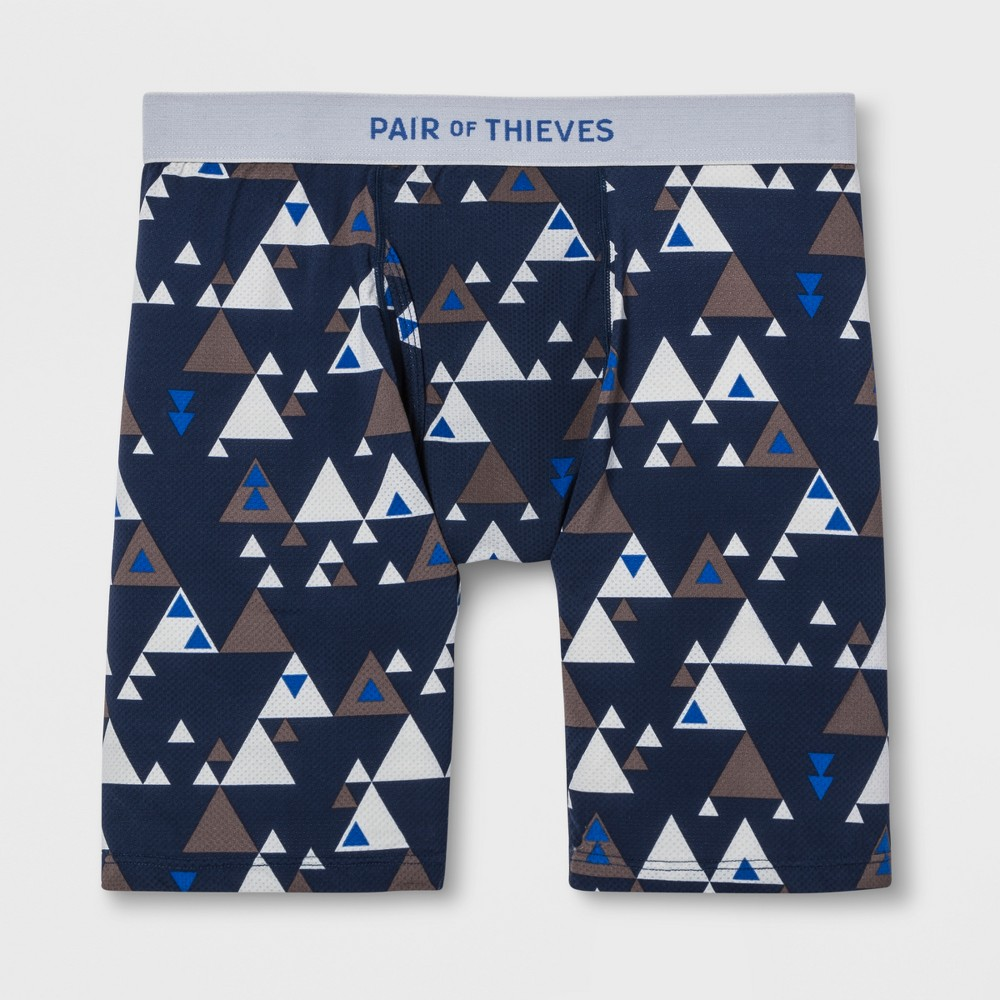 Pair of Thieves Men's Super Fit Long Leg Boxer Briefs - Blue XL