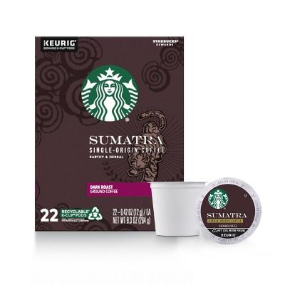 Starbucks Sumatra Blend Dark Roast Coffee - Keurig K-Cup Pods - 22ct