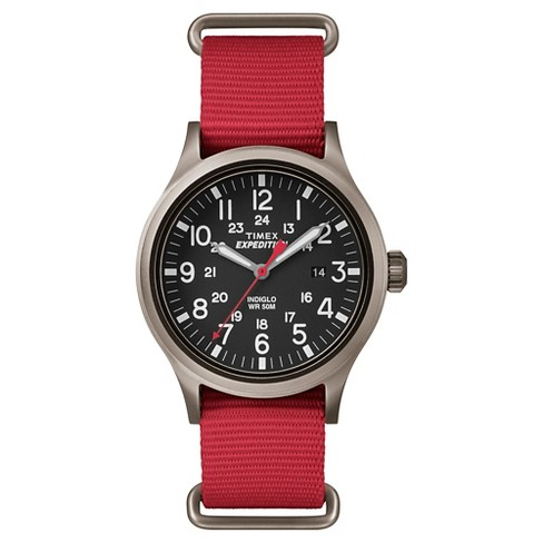Men's Timex Expedition® Scout Watch with NATO Nylon Strap - Gray/Red TW4B045009J - image 1 of 3