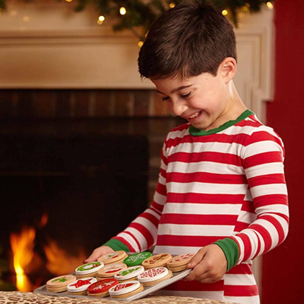 Melissa 38 Doug Slice And Bake Wooden Christmas Cookie Play Food Set