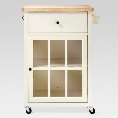 Windham Wood Top Kitchen Cart - Off White - Threshold™