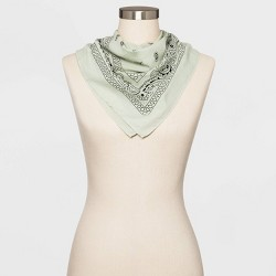 Women's Bandana Scarf - Wild Fable™ - Green One Size
