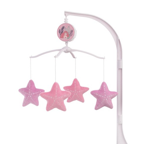 Disney The Little Mermaid Ariel Cute By Nature Musical Mobile - Pink/Aqua/Coral - image 1 of 4