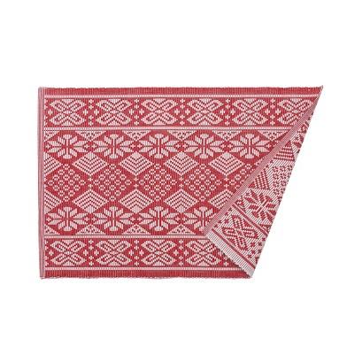 C&F Home Scandinavian Red Cotton Jacquard Placemat Set of 6