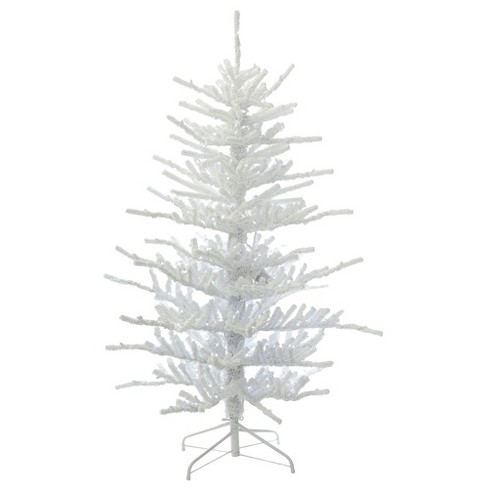 55ft pre lit artificial christmas tree flocked twig with 250 warm white led lights