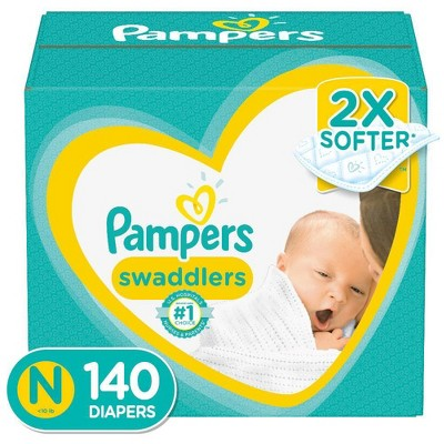 Pampers Swaddlers Disposable Diapers Enormous Pack - Size Newborn (140ct)