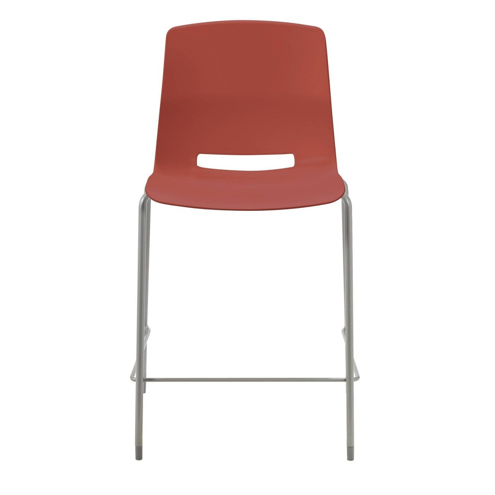 "Image of ""25"""" Lola Stacking Office Counter Stool Peri Red - Olio Designs"""
