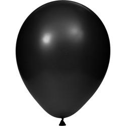 15ct Black Latex Balloons Black