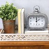 "7"" x 8"" Alexander Table Clock Gray - Stratton Home Dcor - image 3 of 4"