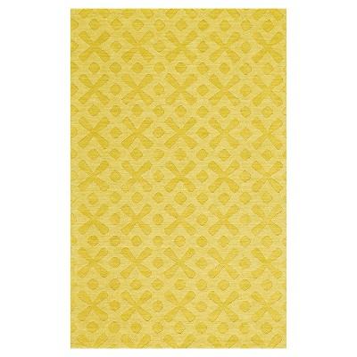 8'X11' Geometric Woven Area Rugs Yellow - Weave & Wander