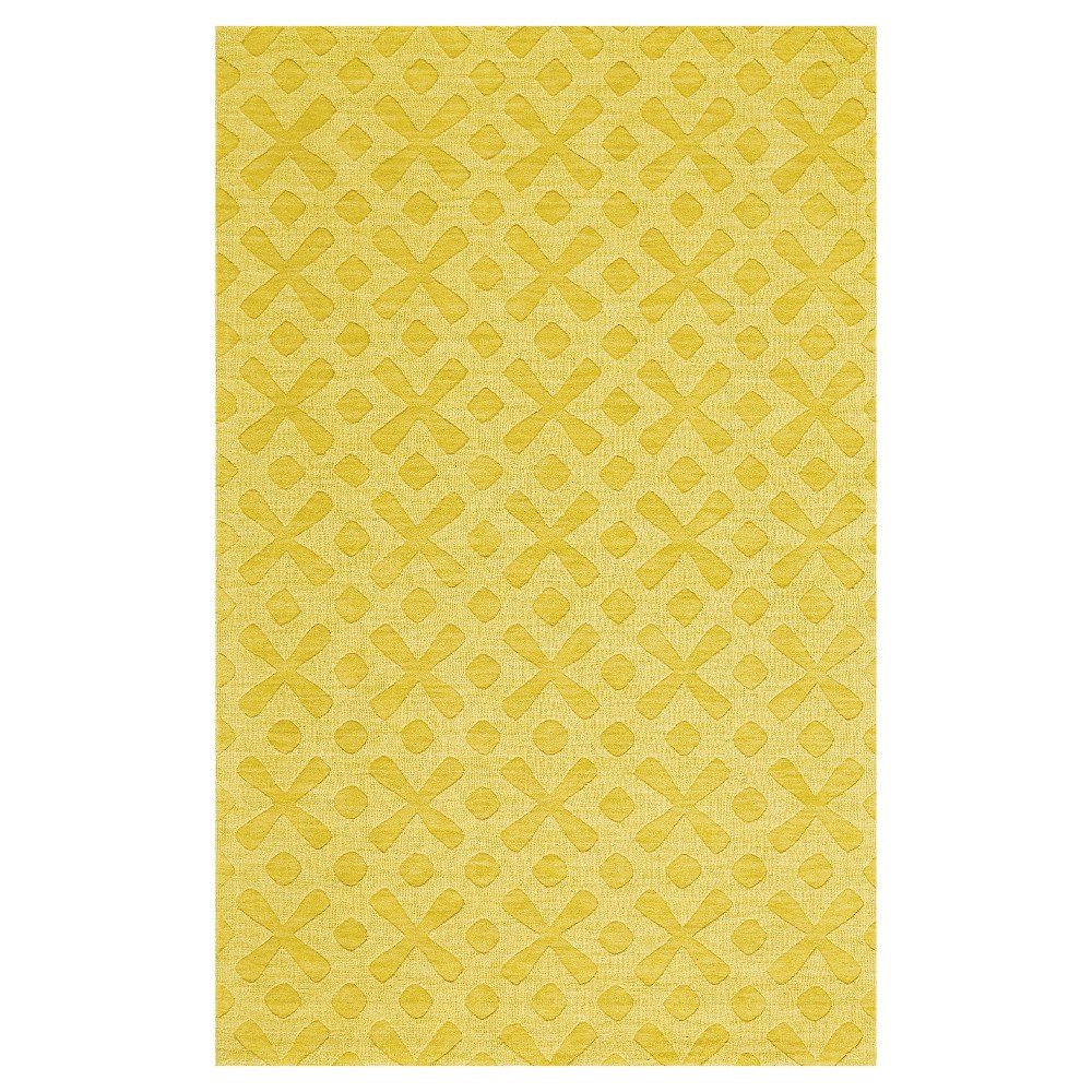 5'X8' Geometric Woven Area Rugs Yellow - Room Envy