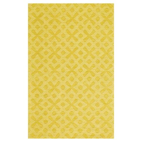 8'X11' Geometric Woven Area Rugs Yellow - Weave & Wander - image 1 of 3