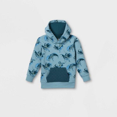 Toddler Boys' Batman Hooded Pullover - Blue