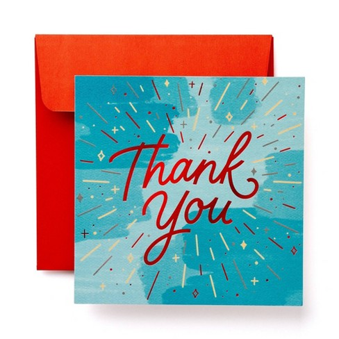 6ct Thank You Christmas Greeting Cards