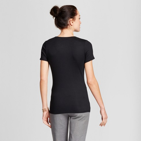 Women s Fitted Short Sleeve Crew T-Shirt - A New Day™   Target fe391c932f3