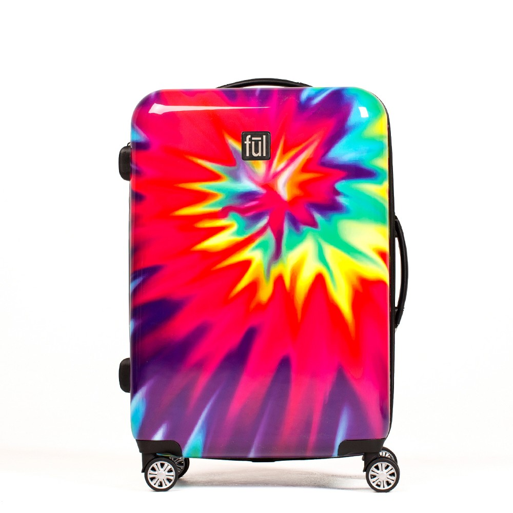 Ful 24 Hardside Spinner Suitcase - Tiedye Swirl, Multi-Colored