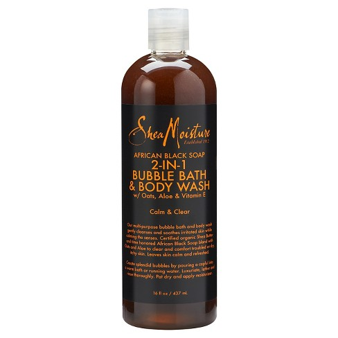SheaMoisture African Black Soap 2in1 Bubble Bath & Body Wash - 16oz - image 1 of 1