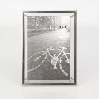 4  x 6  Floating Frame with Symmetrical Wire Back Brushed Nickel - Project 62™