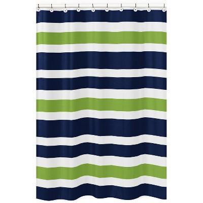 Striped Shower Curtain Green - Sweet Jojo Designs