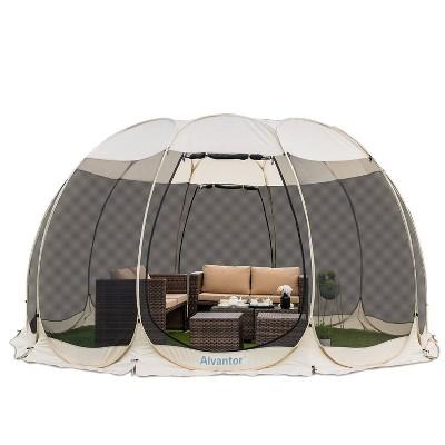 15' x 15' Pop Up Portable Gazebo Screen Tent - Alvantor
