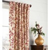 """Botanical Toile Insulated Double-Lined Curtain Panel, 42"""" W X 54"""" L, Cranberry - Plow & Hearth - image 2 of 2"""