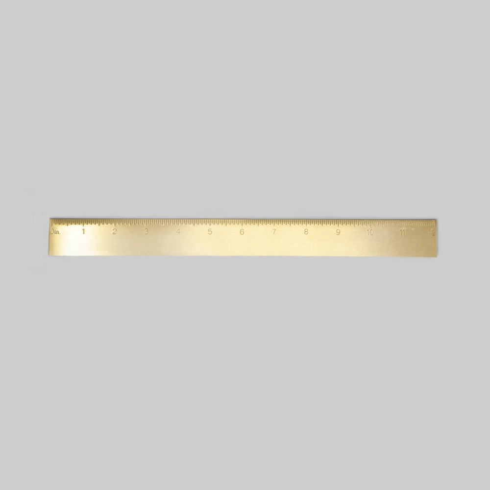 Image of Engraved Brass Ruler - Project 62