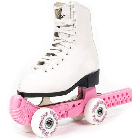 Rollergard Slip-On ROC-N-Roller Figure Skate Rolling Guard with a Floating Blade System, Pink (2 Pack) - image 1 of 2