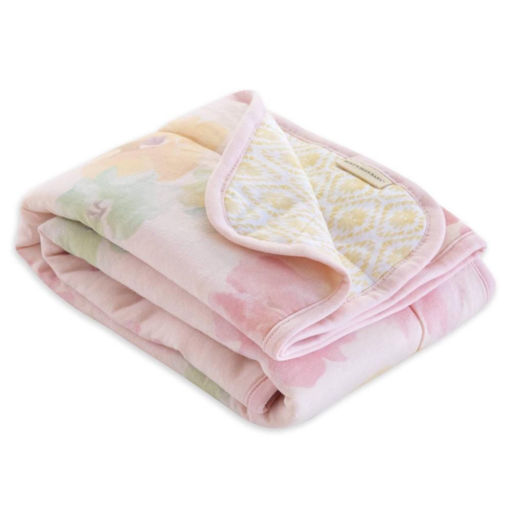 Burt 39 S Bees Baby 174 Organic Reversible Jersey Knit Blanket Morning Glory