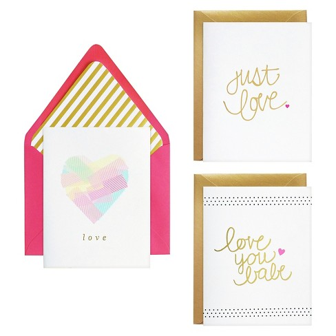 meant to be sent® Just Love Notecards 3 ct - image 1 of 2