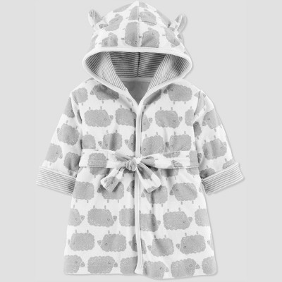 Baby's Sheep Bath Robe - Just One You® made by carter's Gray 0-9M