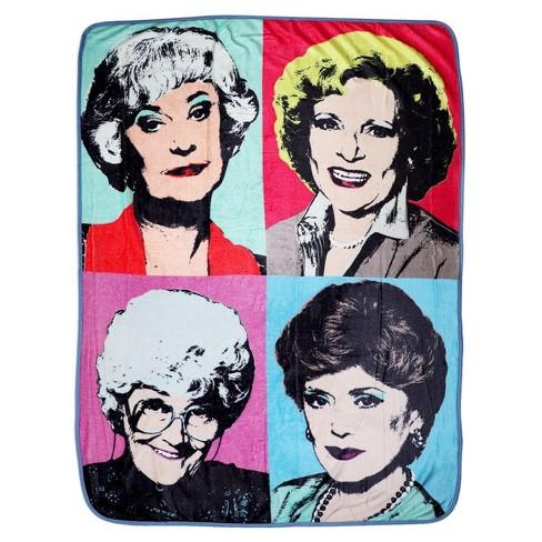 "Golden Girls Warhol Fleece Throw Blanket | 45""x60"" - image 1 of 4"