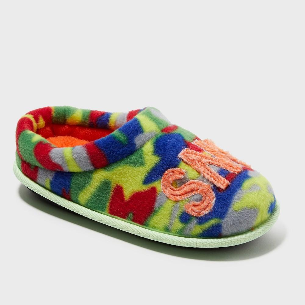 Boys' Dearfoams Slide Slippers - 7-8, Multi-Colored