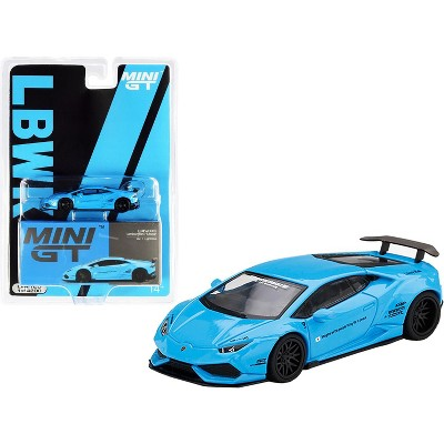 Lamborghini Huracan Ver. 1 LB Works Light Blue Limited Edition to 4200 pieces 1/64 Diecast Model Car by True Scale Miniatures