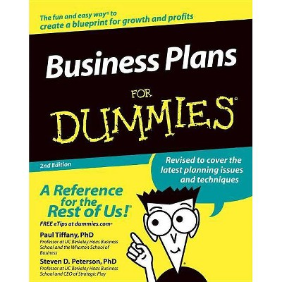Business Plans for Dummies - (For Dummies) 2nd Edition by  Paul Tiffany & Steven D Peterson (Paperback)
