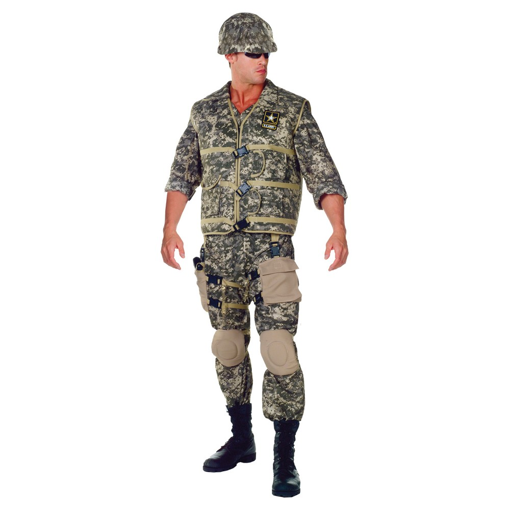 Image of Halloween Boys' U.S. Army Ranger Deluxe Costume, Boy's, Size: One Size, Green