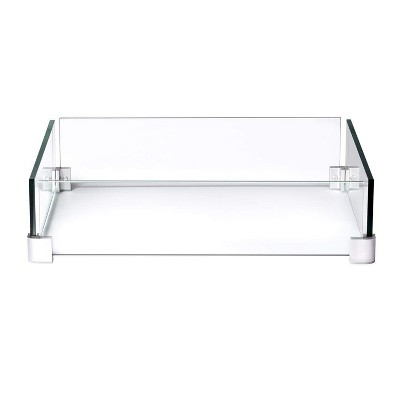 Napoleon GPFTS-WNDSCRN Outdoor Windscreen Flame Guard for Square St. Tropez & Kensington Patioflame Tables, 23 x 23 x 5.5 Inch, Clear