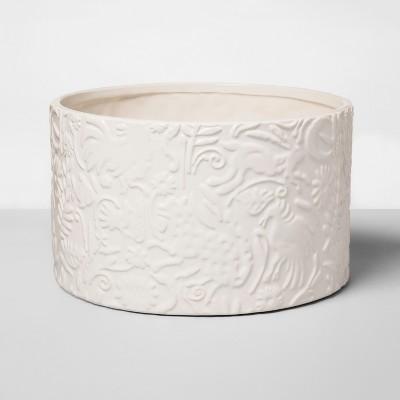 10  x 6  Stoneware Planter With Animal Print White - Opalhouse™