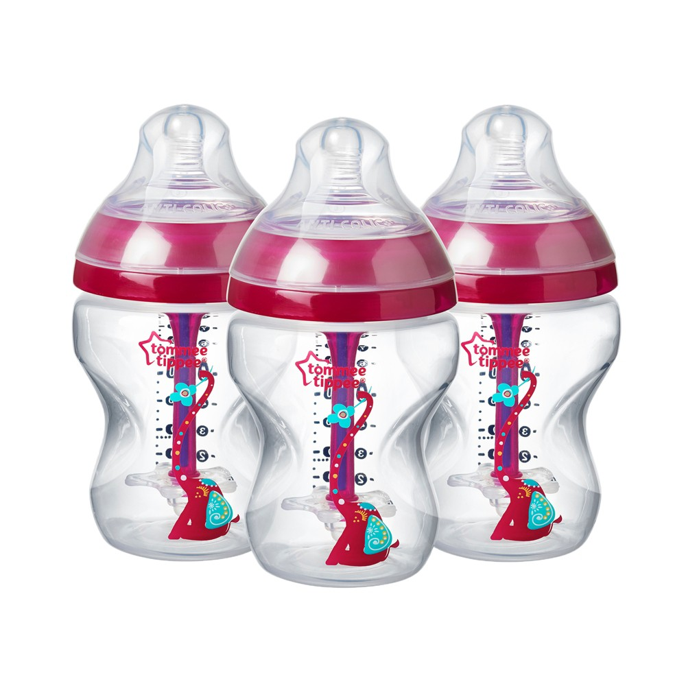 Tommee Tippee Advanced Anti-colic 3pk Baby Bottle 9oz - Pink