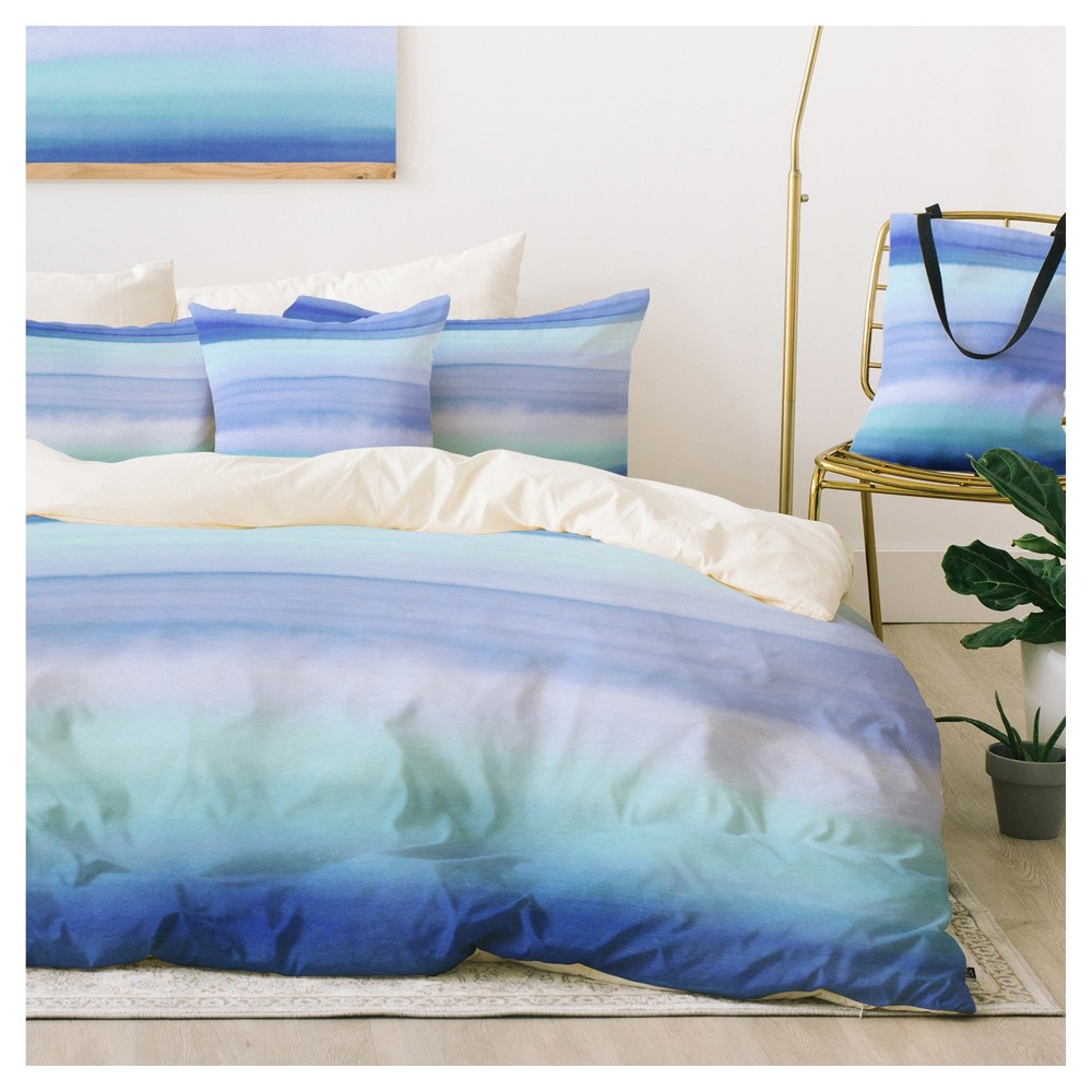 Blue Amy Sia Ombre Duvet Cover Set - Deny Designs