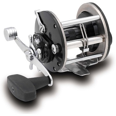 Penn 309MCP Level Wind 300 Yard 30 Pound Right Handed Steel Mechanical Counterbalanced Fly Ice Fishing Reel, Black