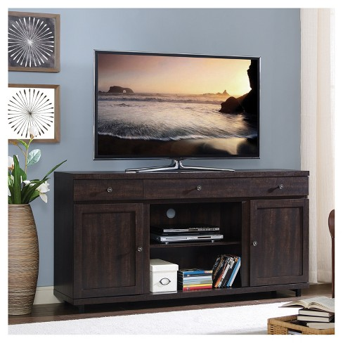 Wood 65 Tv Stand With Storage Espresso Home Source Industries