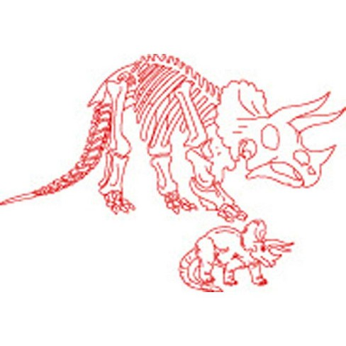 Roylco Dinosaurs and Skeleton Rubbing Plates, 7-1/2 x 9-1/2 Inches, set of 6 - image 1 of 1
