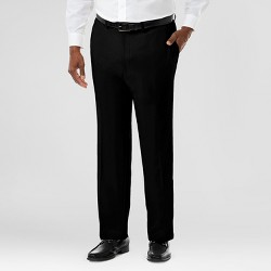 Haggar H26 Men's Haggar H26 Men's Big & Tall Performance Stretch Straight Fit Pants Black 54x32