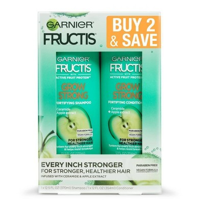 Garnier Fructis Active Fruit Protein Grow Strong Fortifying Shampoo & Conditioner Twin Pack - 24.5 fl oz