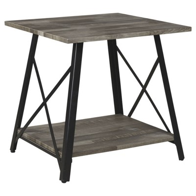 Harzoni Square End Table Grayish Brown - Signature Design by Ashley